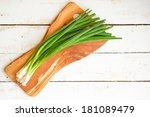 farm raised organic green... | Shutterstock . vector #181089479