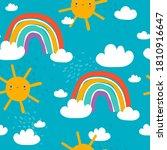 rainbow  sun  hand drawn...   Shutterstock .eps vector #1810916647