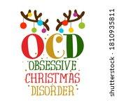 ocd obsessive christmas... | Shutterstock .eps vector #1810935811
