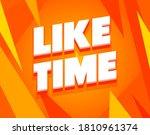 like time social media concept...