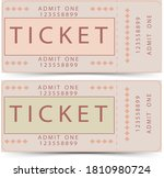 vintage ticket design in pastel ... | Shutterstock . vector #1810980724