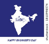 15 september happy engineer's... | Shutterstock .eps vector #1810998574