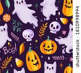 Cute Cats Ghosts  Skulls And...
