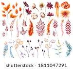 Watercolor Autumn Clipart...