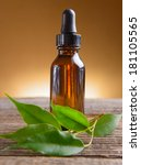 pure organic essential oil in... | Shutterstock . vector #181105565