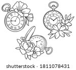 Set Of Floral Pocket Watches....