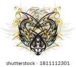 colorful splattered predator... | Shutterstock . vector #1811112301