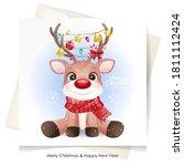 cute doodle deer for christmas...