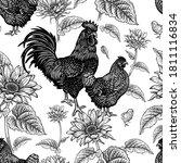 Seamless Pattern. Chicken ...