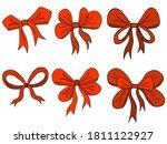christmas ribbon  christmas... | Shutterstock .eps vector #1811122927