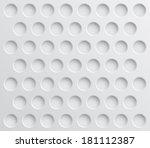 vector seamless circles pattern ... | Shutterstock .eps vector #181112387