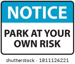 park at your own risk sign | Shutterstock .eps vector #1811126221