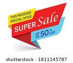 super sale weekend special... | Shutterstock .eps vector #1811145787
