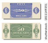 Paper Money. Green And Blue...