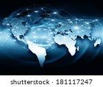 best internet concept of global ...   Shutterstock . vector #181117247