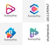 set of play house logo design... | Shutterstock .eps vector #1811190967