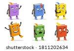 cartoon books set. cite funny... | Shutterstock .eps vector #1811202634