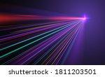 abstract neon light rays... | Shutterstock .eps vector #1811203501