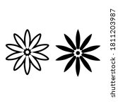 flower line icon. high quality... | Shutterstock .eps vector #1811203987