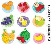 fruit   illustration | Shutterstock .eps vector #181124441