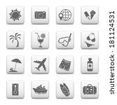 web buttons  vacation icons | Shutterstock .eps vector #181124531