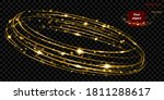 glowing fire ring with glitter... | Shutterstock .eps vector #1811288617