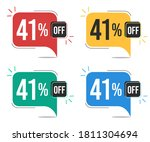 41  off. red  yellow  green and ... | Shutterstock .eps vector #1811304694