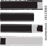 old grunge straight films.... | Shutterstock .eps vector #18113083