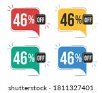 46  off. red  yellow  green and ... | Shutterstock .eps vector #1811327401