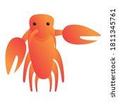 Delicacy Lobster Icon. Cartoon...