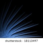 blue  spiny textures in fanning ... | Shutterstock . vector #18113497