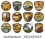 halloween pumpkin  ghost and... | Shutterstock .eps vector #1811351914