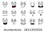 cartoon faces. expressive eyes... | Shutterstock .eps vector #1811353534