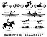 disabled racing sports and... | Shutterstock .eps vector #1811366137