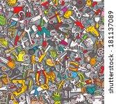 tools seamless pattern ... | Shutterstock .eps vector #181137089