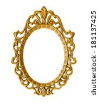gold vintage frame isolated on... | Shutterstock . vector #181137425