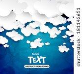clouds   Shutterstock .eps vector #181142651