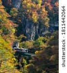 Naruko Gorge Valley With Train...