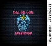 mexican dead day dia de los... | Shutterstock .eps vector #1811463211
