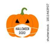 Pumpkin Wearing Medical Face...