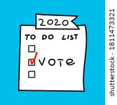 2020 to do list  vote. election ... | Shutterstock .eps vector #1811473321