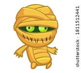 cartoon walking mummy creature. ... | Shutterstock .eps vector #1811512441