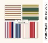 sailor stripes seamless texture ... | Shutterstock .eps vector #1811519077