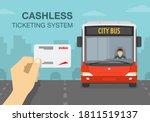 hand holding a public transport ... | Shutterstock .eps vector #1811519137
