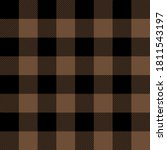 tartan coffee brown plaid.... | Shutterstock .eps vector #1811543197