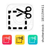 cut square icon.