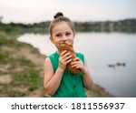 Little Girl 5 Years Old In A...