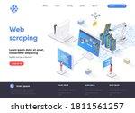 web scraping isometric landing... | Shutterstock .eps vector #1811561257