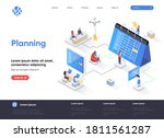 planning isometric landing page.... | Shutterstock .eps vector #1811561287