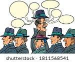 one joyous of the crowd. comics ... | Shutterstock .eps vector #1811568541